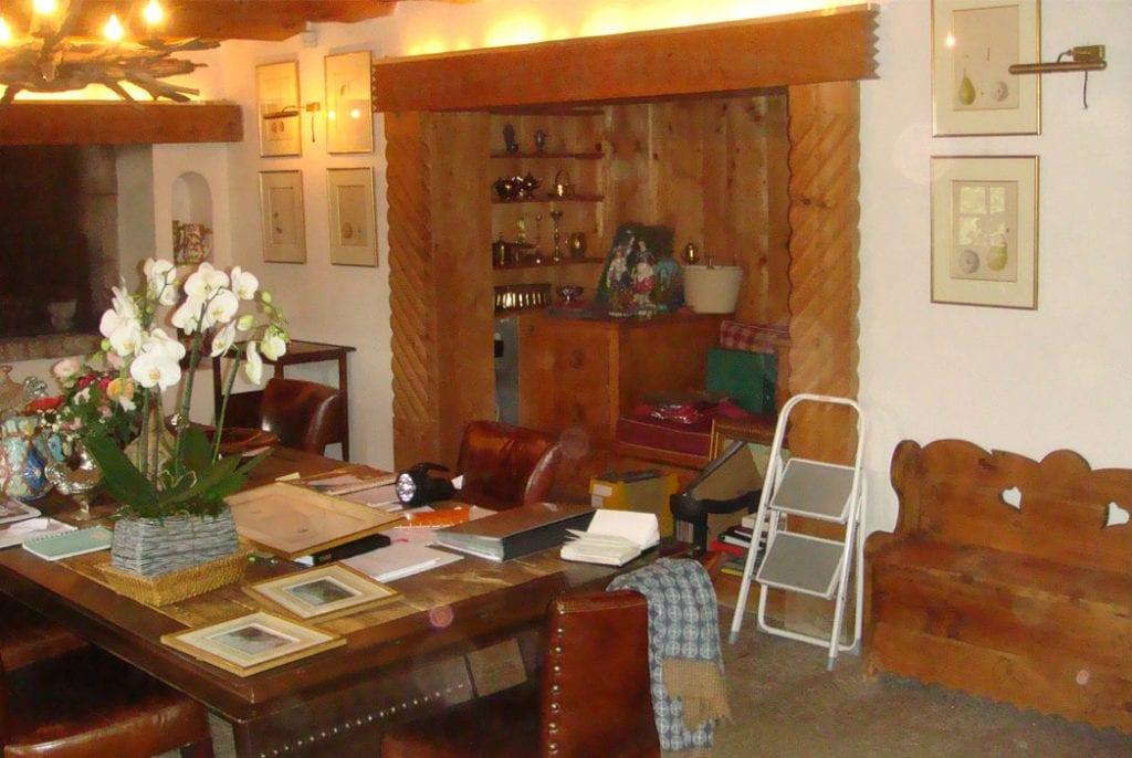 Aménagement d'un espace dans une ferme XVIII éme