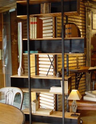 Bibliothèque à caissons