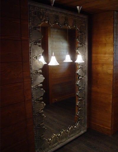 Combloux miroir zinc