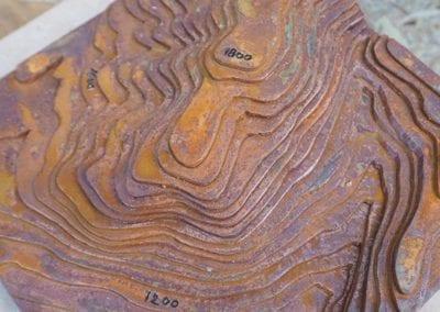 Création d'une maquette de relief pour une étude de l'ensemble du Mont