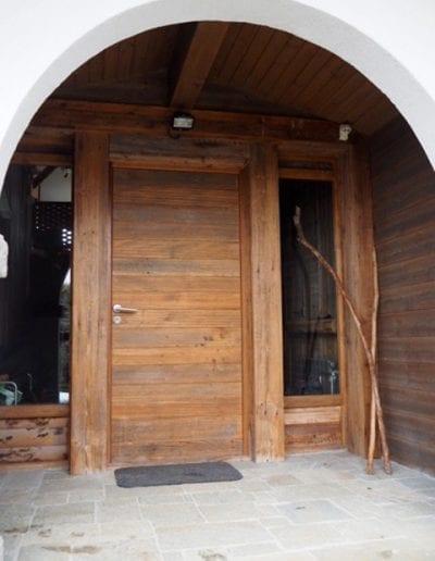 Création et aménagement d'un sas d'entrée pour un chalet