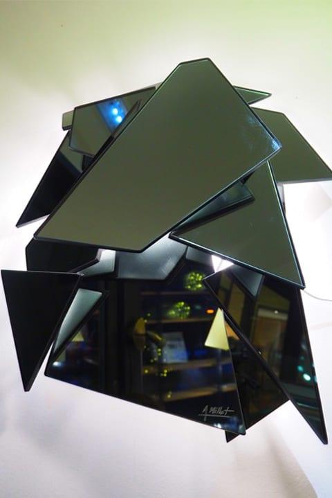 Cristal miroir appliqué