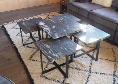 Table basse gigogne black cosmic