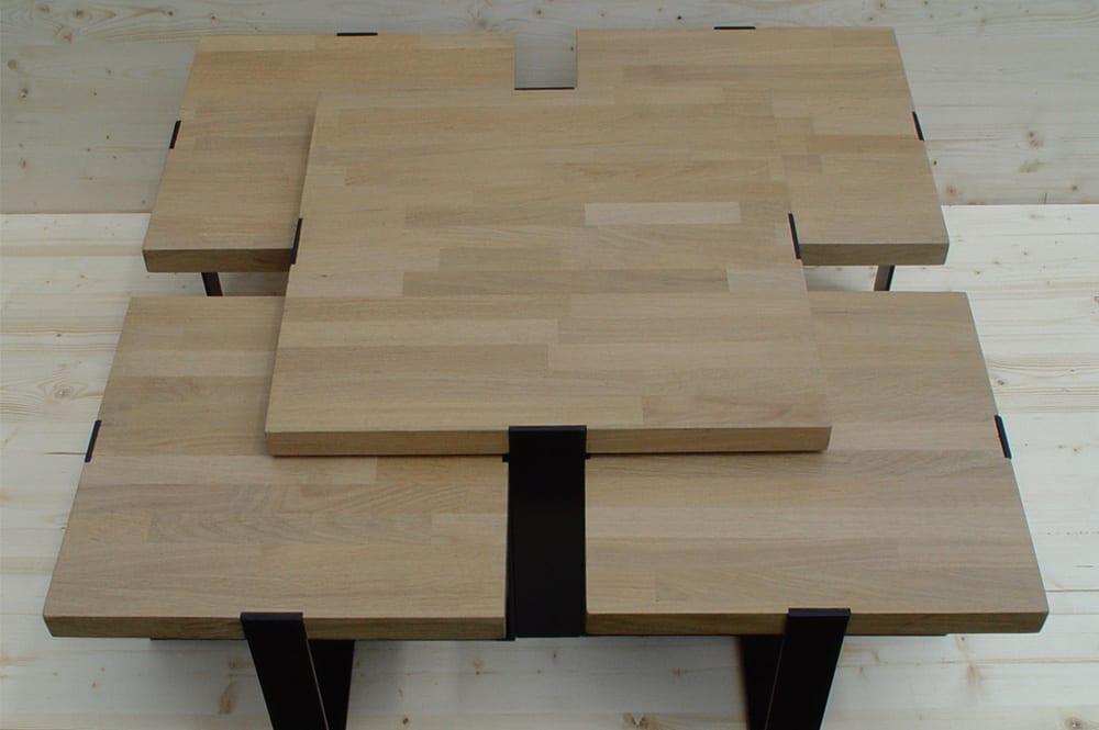 Table basse gigogne chêne