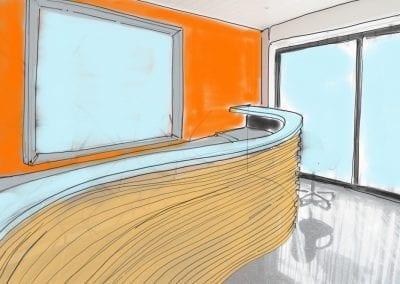 Réalisation d'un comptoir pour une épicerie fine