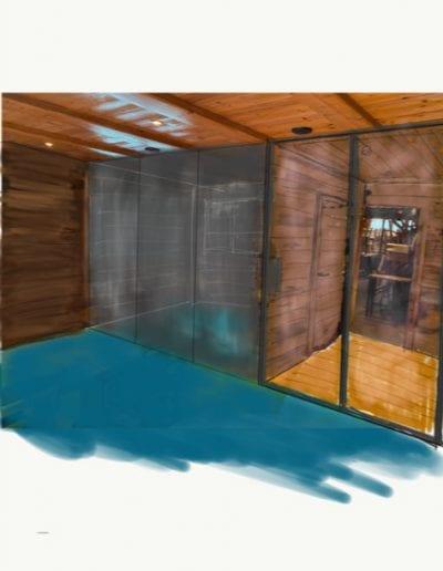 Crest-Voland - Aménagement salle de sport dans Hôtel - esquisses avant projet