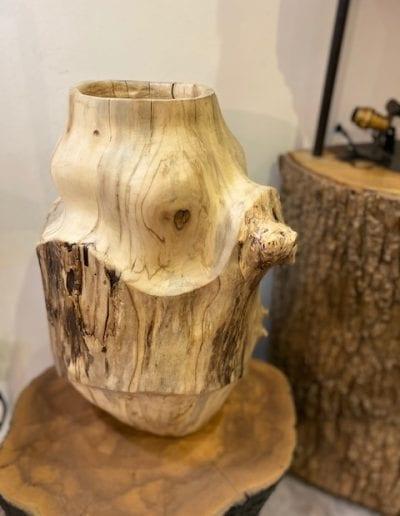 Grand vase bois